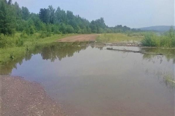 Трасса на Абан после потопа