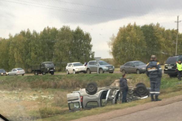Авария произошла на оживленном перекрестке