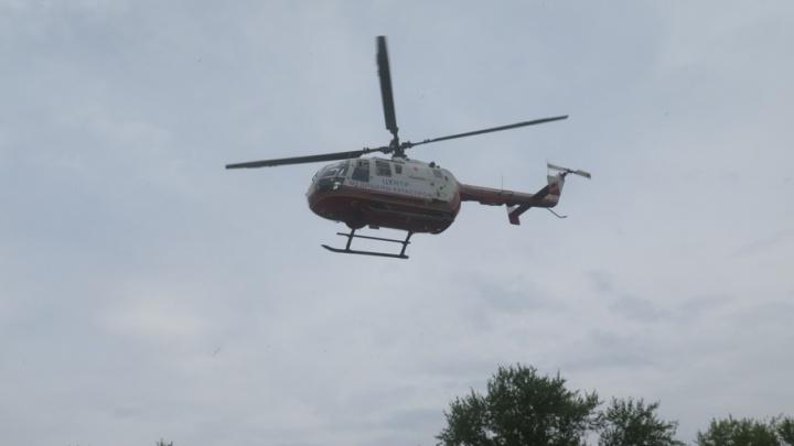 Новый вертолет курганской санавиации отправился в Макушино, чтобы доставить ребенка в Красный Крест
