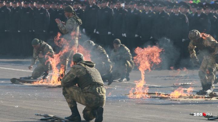 День полиции в Ростове: крутые спецназовцы, красавицы-карабинеры и бесстрашные овчарки