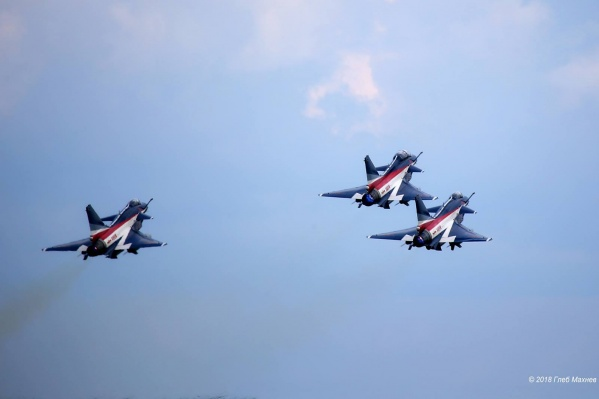 В последний раз китайские истребители пролетали над Екатеринбургом в День города