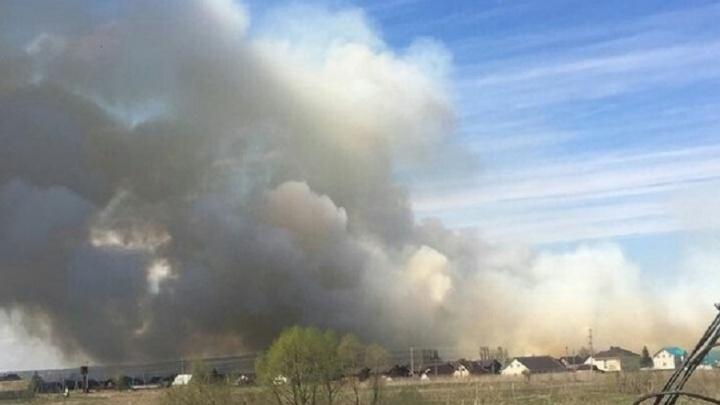 Дорогу Уфа — аэропорт окутало густым дымом