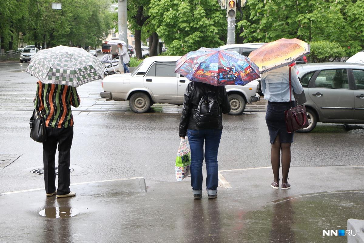 В среду и в четверг зонтик вам пригодится