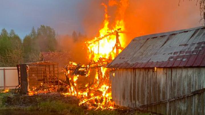 В Ярославской области в пожаре сгорел мужчина