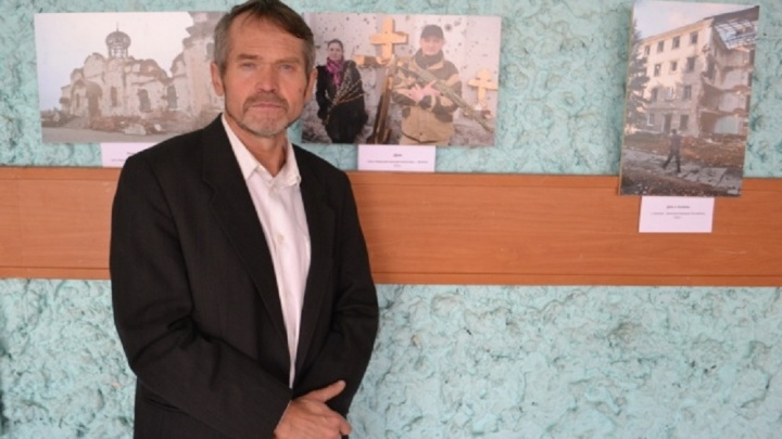 «Война закончится, папа!»: иконописец привез в Волгоград детские рисунки из разрушенного Донбасса