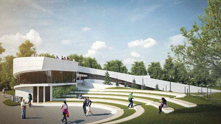 На территории экстрим-парка началось строительство первого этажа нового спорткомплекса