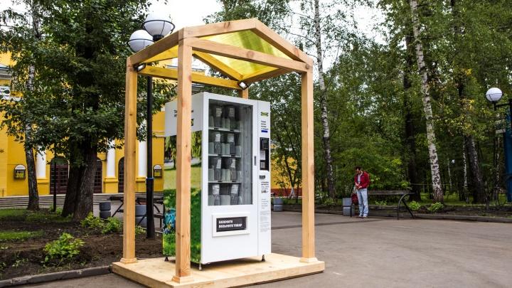 В Центральном парке появился автомат c пледами