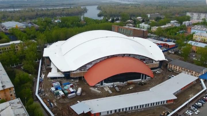 Сверху виднее: стадион «Енисей» почти достроен