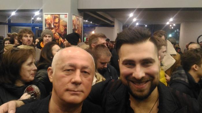 Вадим Голованов (слева) на премьере фильма «Скиф»в Москве