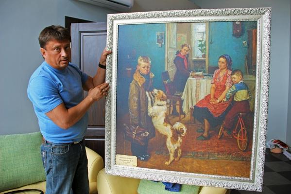 Роман Казак изготовил 50 копий шедевров собрания Третьяковской галереи, которые трудно отличить от оригиналов