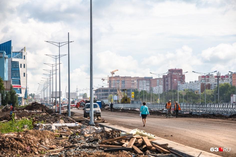 Во время реконструкции Московское шоссе перекроили