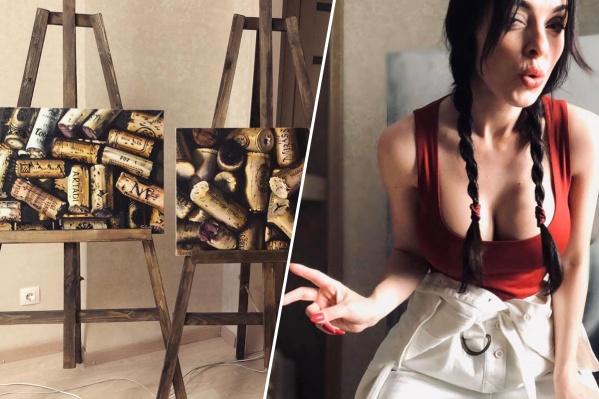 Анастасия Отришко и её новые интерьерные картины с изображением винных пробок
