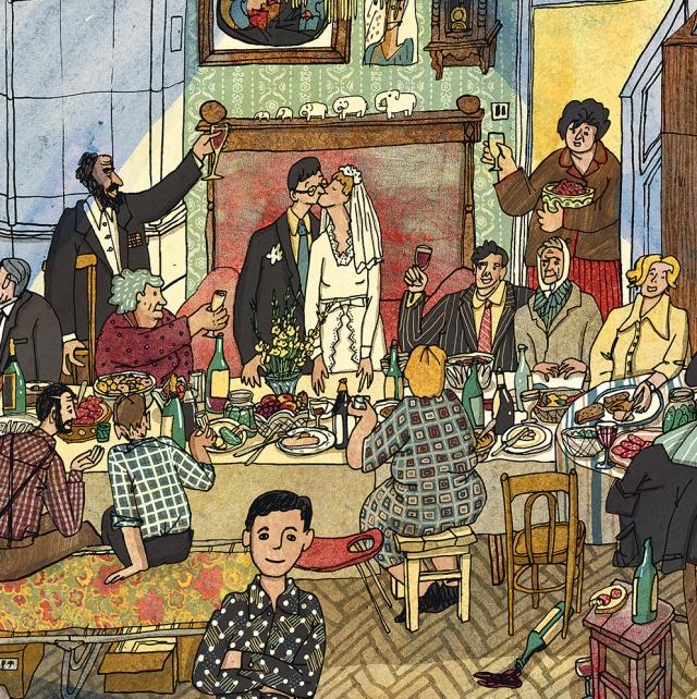 Иллюстрация Анны Десницкой к книге «История одной квартиры»