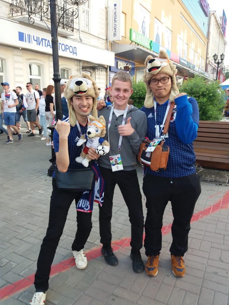 С японскими фанатами