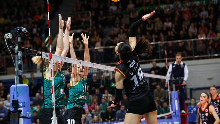 Волейболистки «Уралочки» уступили грандам из Турции в матче Лиги чемпионов