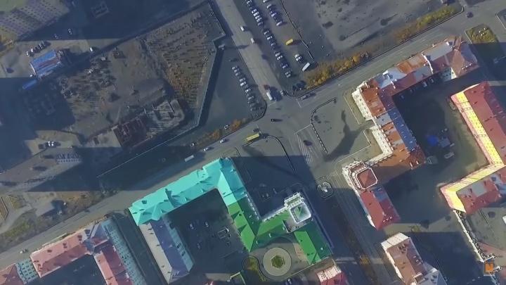 Красоты самого холодного города края показали с высоты птичьего полета