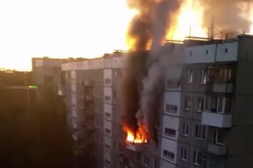 Пожар на шестом этаже девятиэтажки