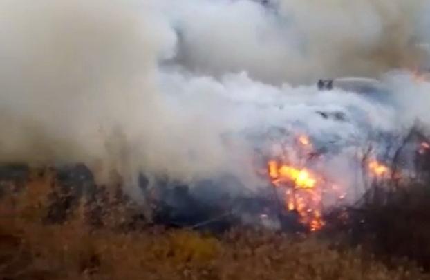 В Новосибирске жители частного сектора четыре дня задыхаются от сильного пожара на свалке