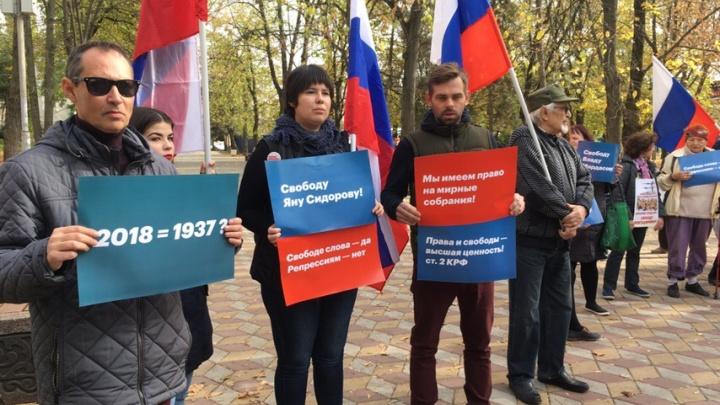 Во время митинга ростовской оппозиции полиция задержала блогера Сергея Рулева