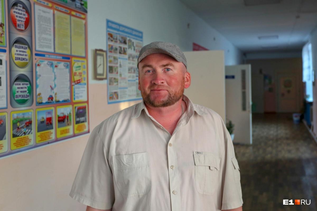 Антон Белоусов, директор местной школы