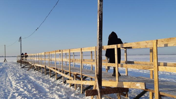 Три пешеходные переправы открыли в Архангельске 31 января