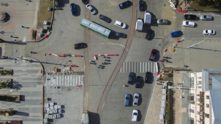 ГИБДД: пешеходный переход на Ленина не должен быть кривым