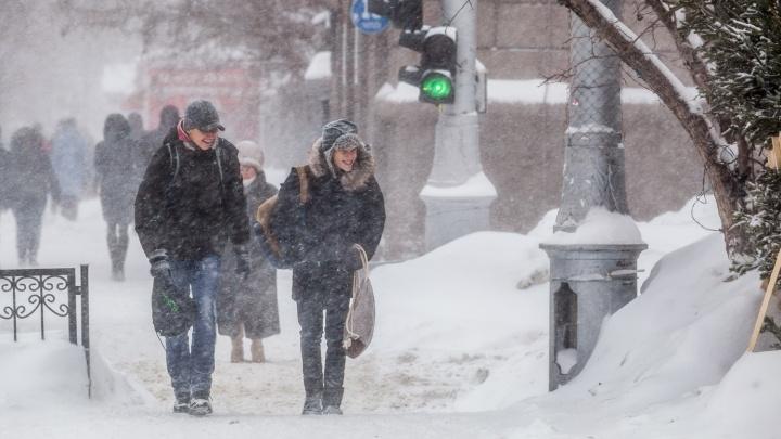МЧС предупредило новосибирцев об ухудшении погоды: мокрый снег и метели