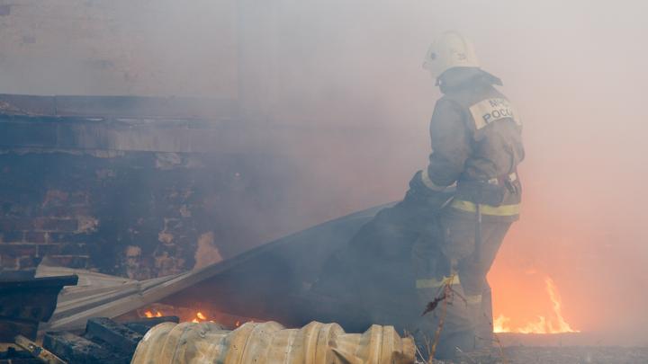 В Волгоградской области на пожаре сгорел мужчина
