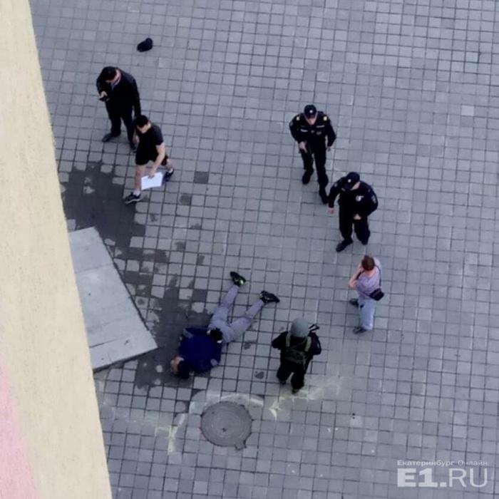 Задержание  во время ограбления банка на Щербакова