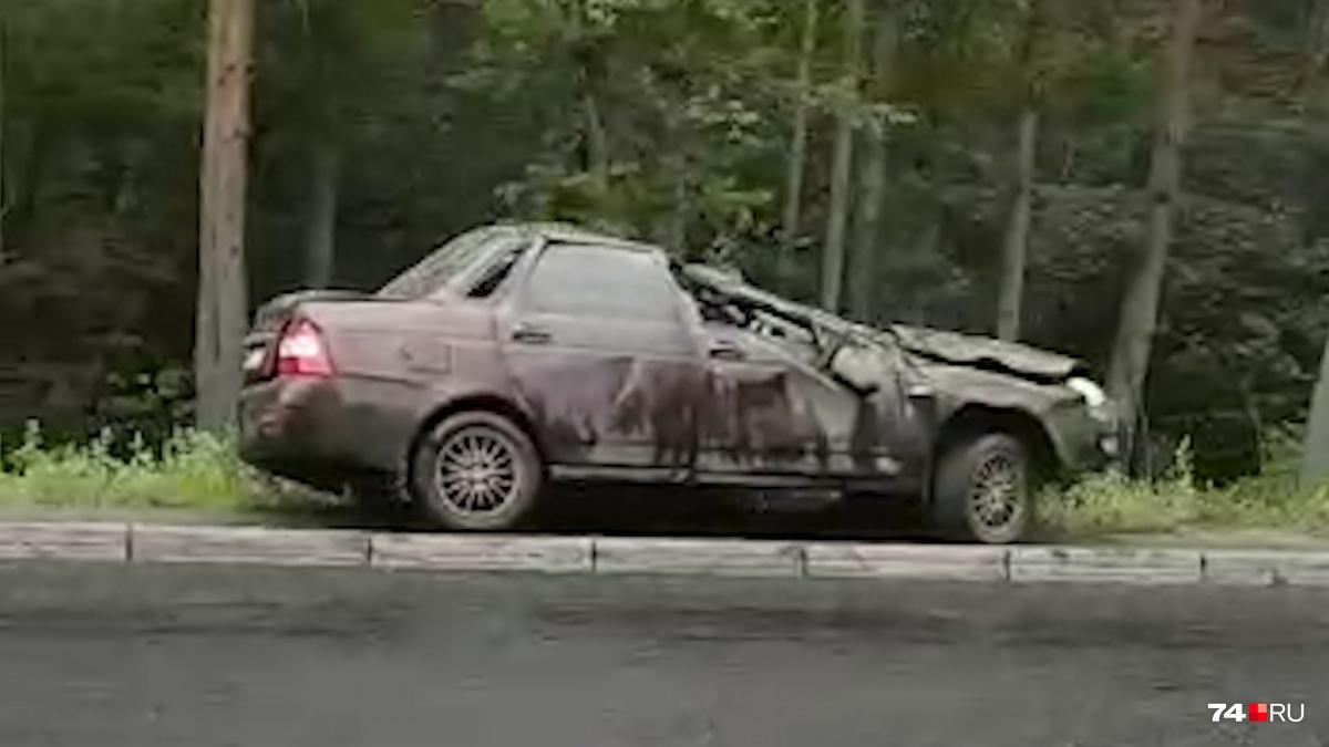 Внутри машины-перевёртыша были водитель и пассажир