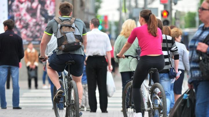 С начала сезона в Екатеринбурге гаишники оштрафовали три сотни велосипедистов