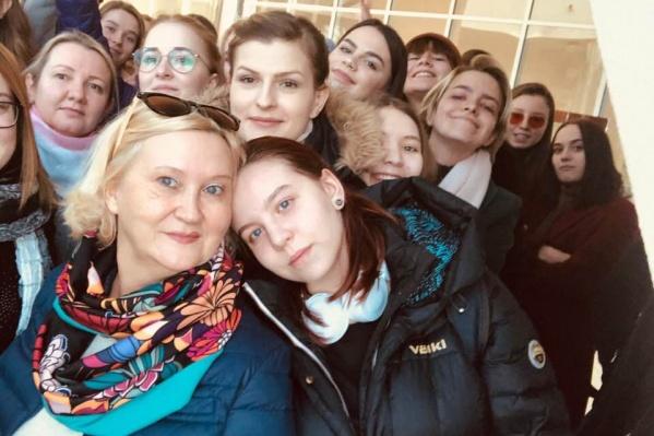 Студенты поддержали Любовь Третьякову