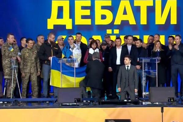 Порошенко во время дебатов периодически переходил на русский язык