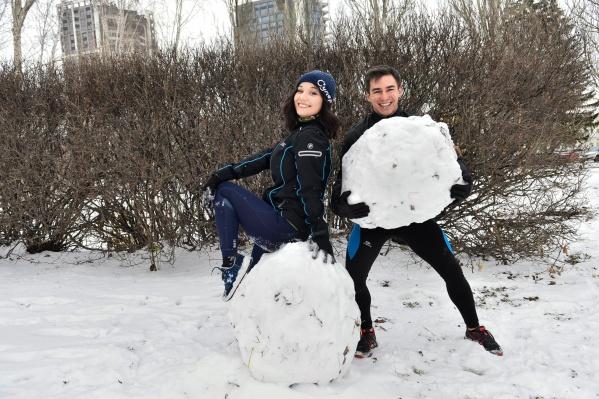 Погода шепчет: иди качаться! Наши спортсмены Валя и Айрат уже сожгли пару сотен калорий