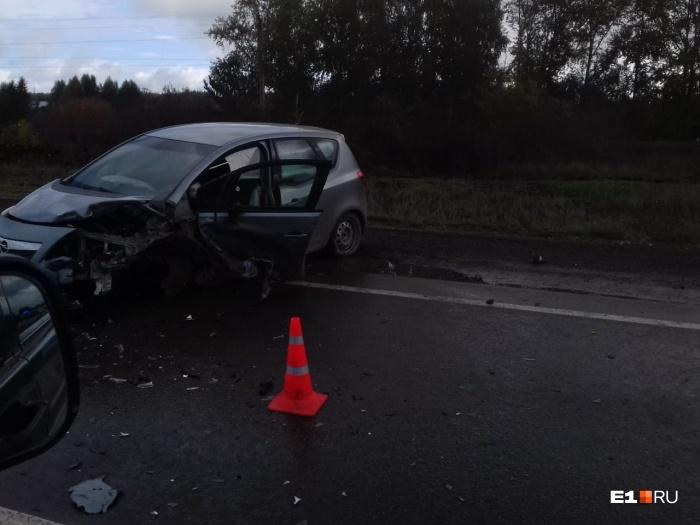 Обе машины получили очень серьезные повреждения