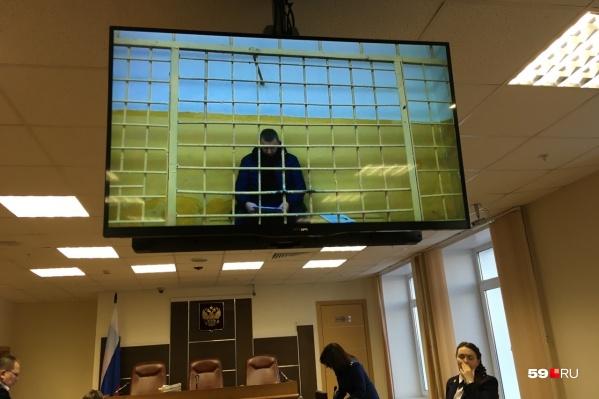 Андрей Рашидов давал показания по видеосвязи из соликамского СИЗО