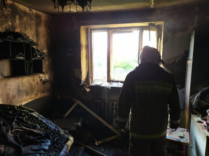 Пожарным удалось потушить дом за пять минут
