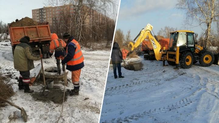 Сливную точку «черных» ассенизаторов закопали на Северном шоссе