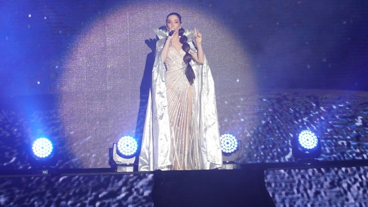 В Перми с концертом выступила певица Наталия Орейро. Смотрим фото