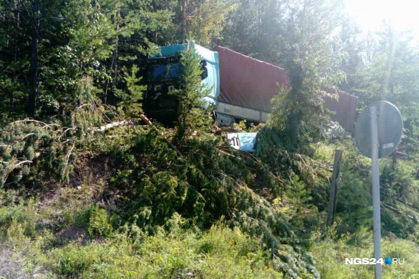 Авария произошла в километре от Богучан