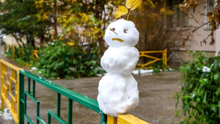 Зима, твой выход: смотрим, как Нижний Новгород накрыло снегом в конце октября