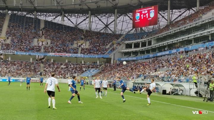 Матч «Ротор» — «Шинник» посмотрели рекордные33 417 зрителей