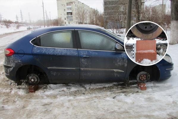 Водители «бесколесых» машин написали заявление в полицию
