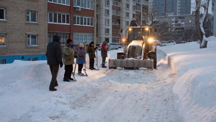 Уфимские дворы очистят от снега и наледи