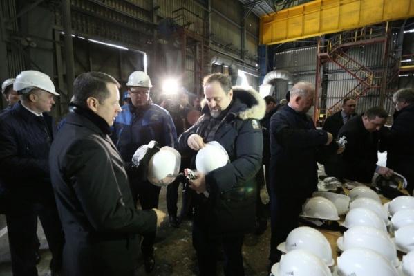 Первой точкой визита Сергея Донского стал ЧМК