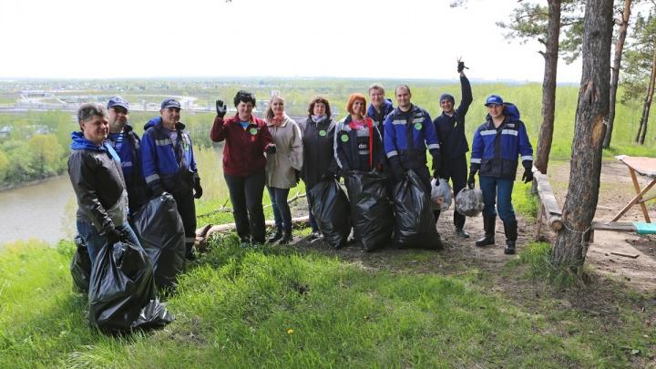 Десятки новосибирцев вышли на берег Ини убрать мусор