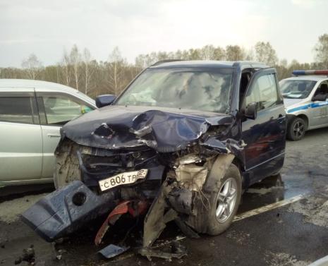 Три машины столкнулись на алтайской трассе: есть пострадавшие