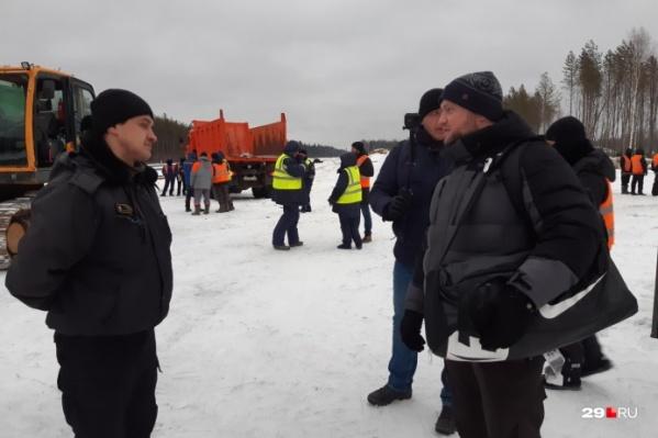 Во время поездки Владимира Воронцова сотрудники ЧОПа огородили часть участка