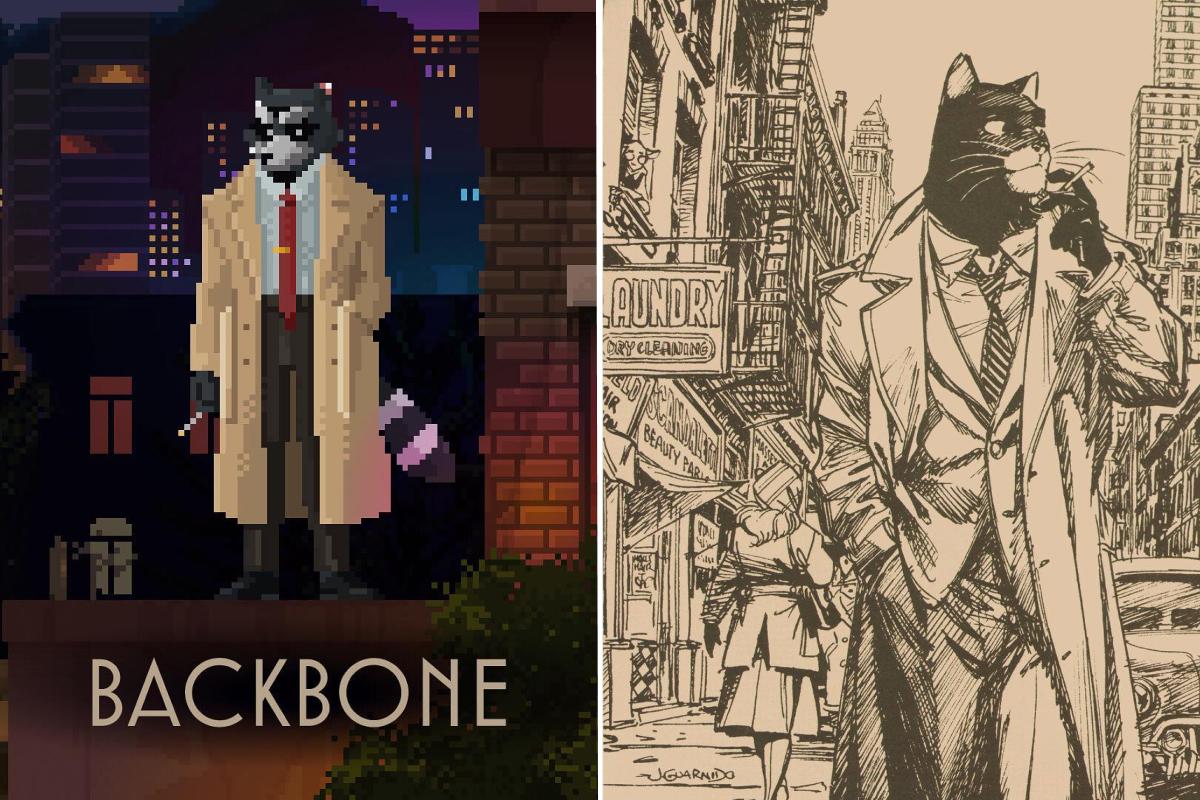 Слева енот Говард Лотар из Badbone.<br>Справа кот-детектив&nbsp;Джон Блэксэд из комиксов BlackSad
