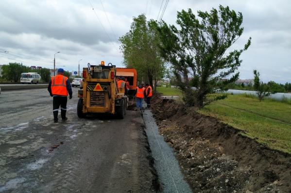 Работы на дорогах города были начаты в июне